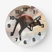 Hopping Kangaroo Clock