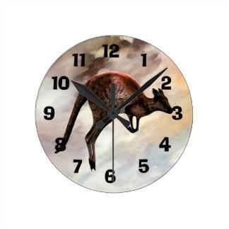 Hopping Kangaroo Clock