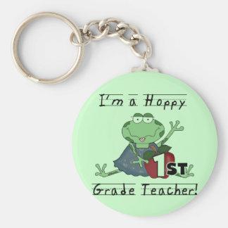 Hoppy 1st Grade Teacher Tshirts and Gifts Keychain