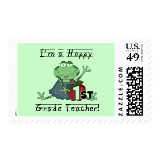 Hoppy 1st Grade Teacher Tshirts and Gifts Postage Stamp