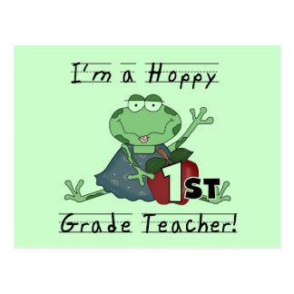Hoppy 1st Grade Teacher Tshirts and Gifts Postcard