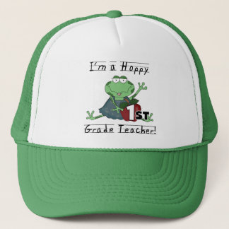 Hoppy 1st Grade Teacher Tshirts and Gifts Trucker Hat
