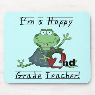 Hoppy 2nd Grade Teacher Tshirts and Gifts Mouse Pad