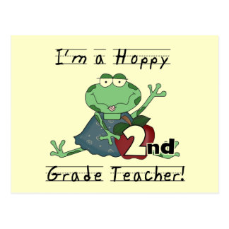 Hoppy 2nd Grade Teacher Tshirts and Gifts Postcard