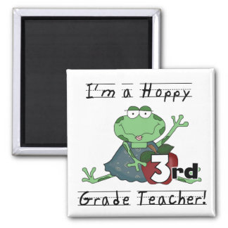 Hoppy 3rd Grade Teacher Tshirts and Gifts 2 Inch Square Magnet