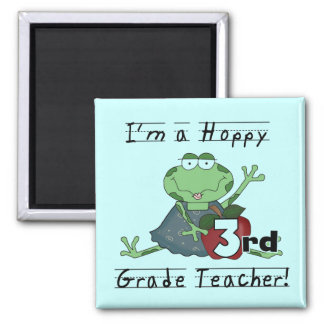 Hoppy 3rd Grade Teacher Tshirts and Gifts Refrigerator Magnet