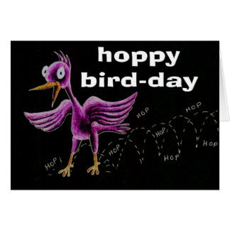 hoppy bird-day card
