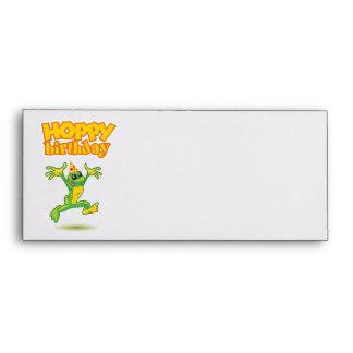 Hoppy Birthday envelope