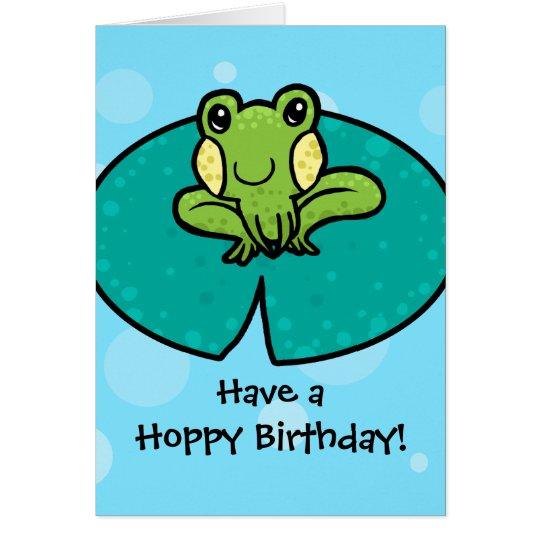 Hoppy birthday frog birthday card zazzle hoppy birthday frog birthday card bookmarktalkfo Images