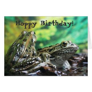 Hoppy Birthday Frog Card
