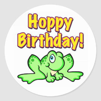 Hoppy Birthday Frog Stickers