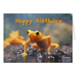 Hoppy Birthday Poison Dart Frog Card
