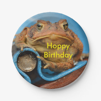 Hoppy Birthday Toad Paper Plate