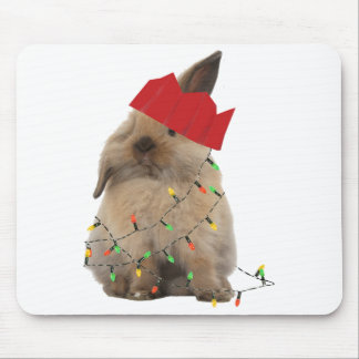 Hoppy Christmas Bunny Mousemat Mouse Pad