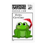 Hoppy Christmas Santa Hat Froggy Stamps