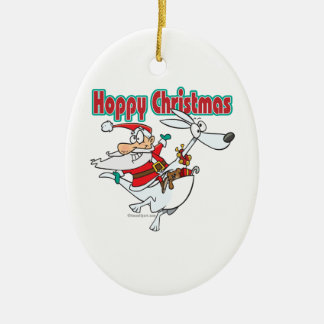 hoppy christmas santa hopping kangaroo christmas tree ornament