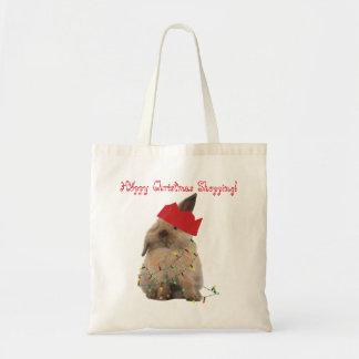 Hoppy Christmas Shopping Bunny Tote