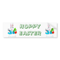 HOPPY EASTER bumper sticker
