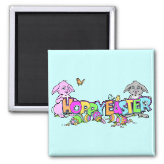 Hoppy Easter Bunnies Refrigerator Magnets