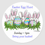 Hoppy Easter Bunny Classic Round Sticker