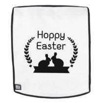 Hoppy Easter Bunny Funny Kids Women Men Backpack