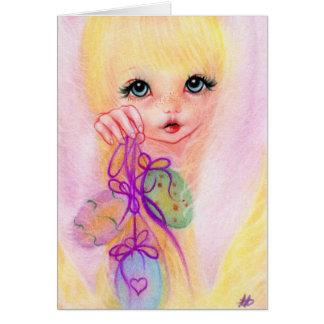 Hoppy Easter  Bunny Girl Greeting Card