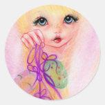 Hoppy easter bunny girl stickers