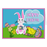 Hoppy Easter Bunny Greeting Card