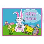 Hoppy Easter Bunny Greeting Card