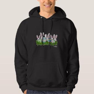 Hoppy Easter Bunny Hooded Sweatshirt