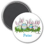 Hoppy Easter Bunny Magnet