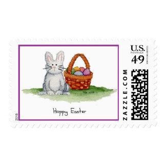Hoppy Easter Bunny Postage Stamp