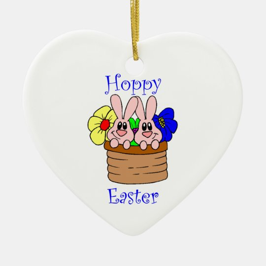 Hoppy Easter Ceramic Ornament