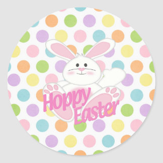 Hoppy Easter Classic Round Sticker