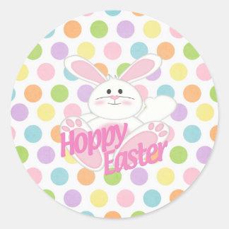 Hoppy Easter Classic Round Sticker