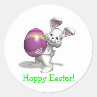 Hoppy Easter! - Designer Sticker Round Sticker