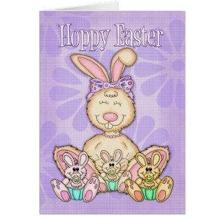 Hoppy Easter - Easter Card - Easter Bunny