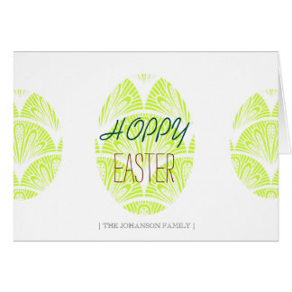 Hoppy Easter | Family Horizontal Card