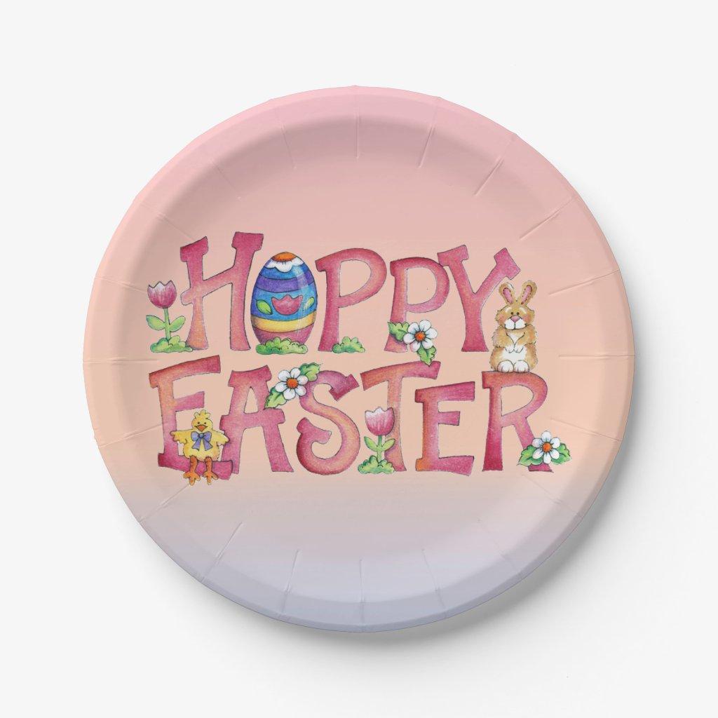 Hoppy Easter - Paper Plates