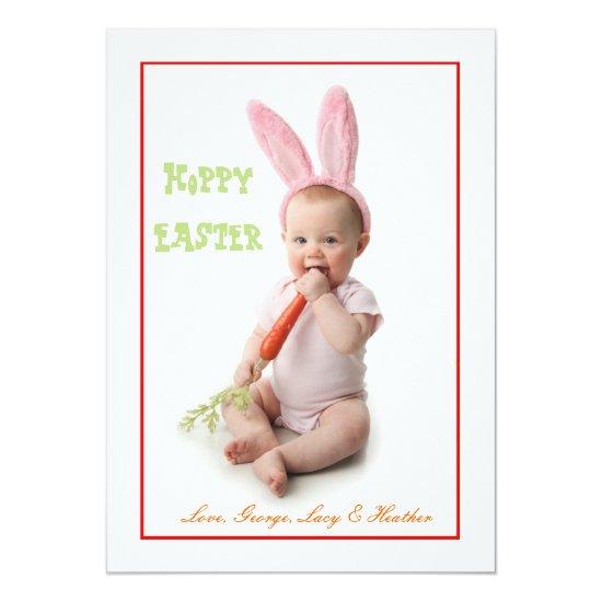 Hoppy Easter Photo Easter Card