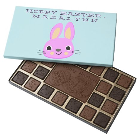 Hoppy Easter Pink Bunny Assorted Chocolates