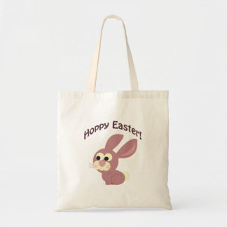Hoppy Easter Pink Bunny Budget Tote Bag