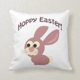 Hoppy Easter Pink Bunny Pillow