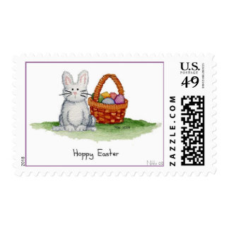 Hoppy Easter Postage Stamp