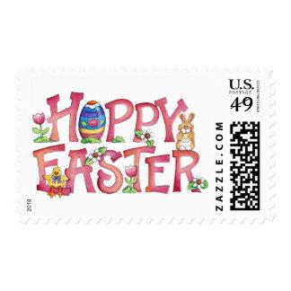 Hoppy Easter - Postage Stamp