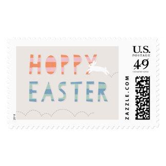 Hoppy Easter Postage Stamp - Bubblegum
