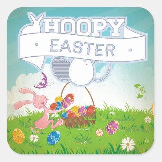 Hoppy Easter Square Sticker