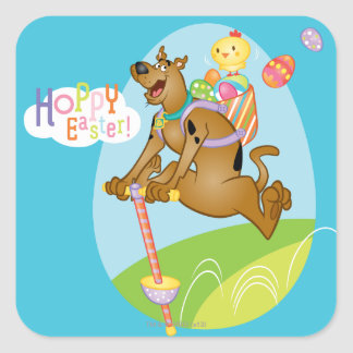 Hoppy Easter Square Sticker