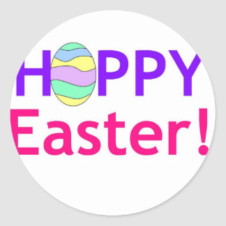 Hoppy Easter Round Stickers