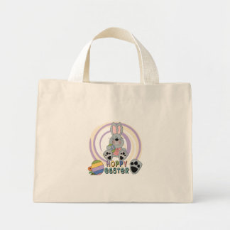 Hoppy Easter T-shirts and Gifts Mini Tote Bag